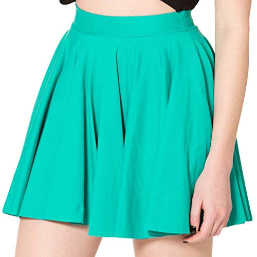 Yying Candy Farbe A Line Shorts Rock Plissee Schulmädchen Minirock Reine Farbe Lässige Skater Röcke All-Match