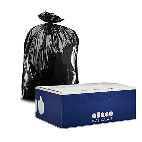 Plasticplace 55 Gallon Contractor Bags, Black, 38 x 58, 4 Mil, 32/Case