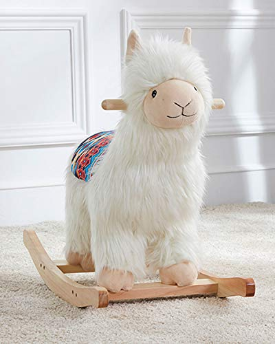 Asweets 10124005 Alpaca Soft Plush Ride-On Rocker