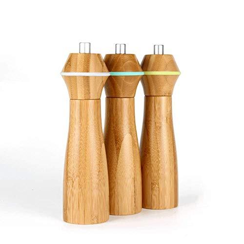 XQKQ Herramienta de molienda para Taladro, Molinillo de bambú para Molinillo de Sal y Pimienta, Molinillo Manual, Grosor de molienda Ajustable, Rotor de cerámica, 2 Piezas, se Pueden Seleccionar