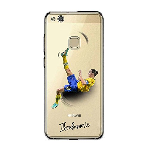 P10 Lite Cover TPU Gel Trasparente Morbida Custodia Protettiva, Soccer Collection, Zlatan Ibrahimovic, Huawei P10 Lite