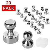 moinkerin 20 Stücke Neodym Magnete Extra Starke Magnete Mini Magnete für Pinnwand, Whiteboard, Kühlschrank, Anschlagtafel oder Bildmagnet
