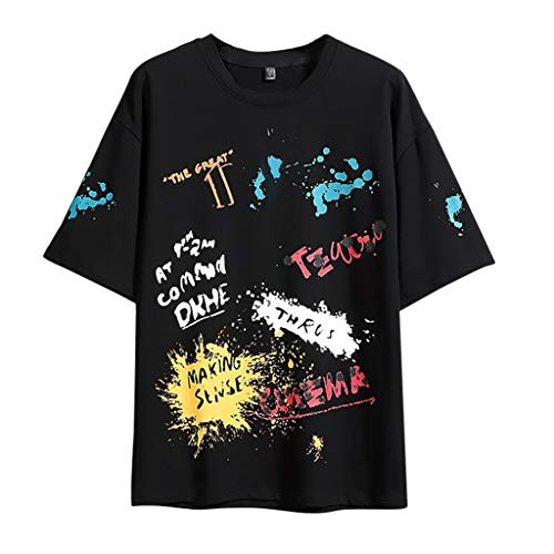 Yowablo T-Shirt Homme Tee Homme Shirt Top Homme Manches Courtes Tee T Shirt Homme (M,3Noir)