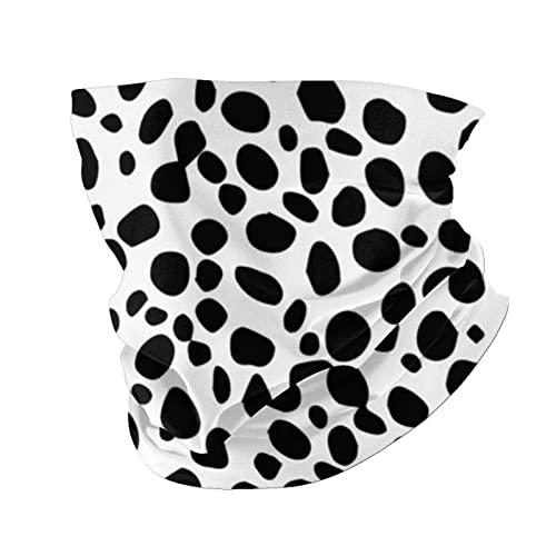 Black and White Background Dalmatian Background Neck Warmer Gaiter for Men Women Headband Face Mask Bandana Head Wrap Scarf Headwear Winter Balaclava for Ski Running Motorcycle