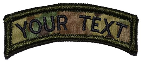 Tactical Gear Junkie Customizable Text Tab Patch w/Hook Fastener Patch - Multicam
