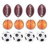 STOBOK 12 Pzas Pelotas Elásticas Fútbol Fútbol Baloncesto Juguetes de Descompresión Pelota de Espuma Estrés Tema de Fiesta Favor de La Ansiedad Alivio de Estrés Bolas Apretadas para