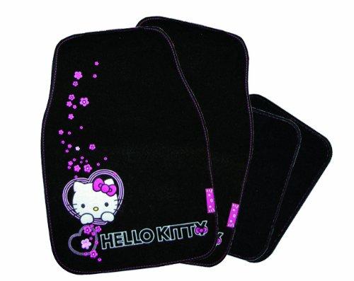 Automatte Hello Kitty 4teilig mit Stickerrei