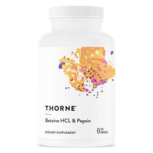 THORNE RESEARCH - Betaine HCL & Pepsin - 225ct [Health and Beauty] by Thorne Research (English Manual)