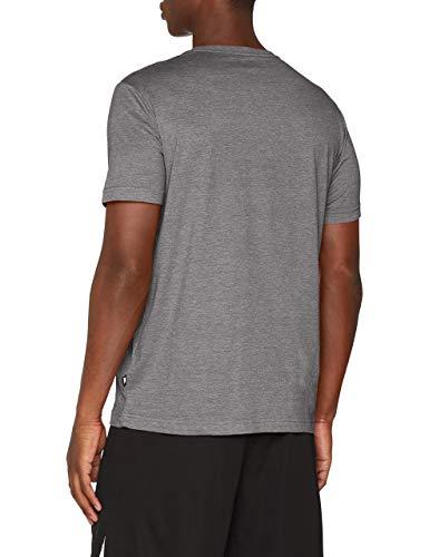 Puma Essentials LG T Camiseta de Manga Corta, Hombre, Gris (Medium Gray Heather), L