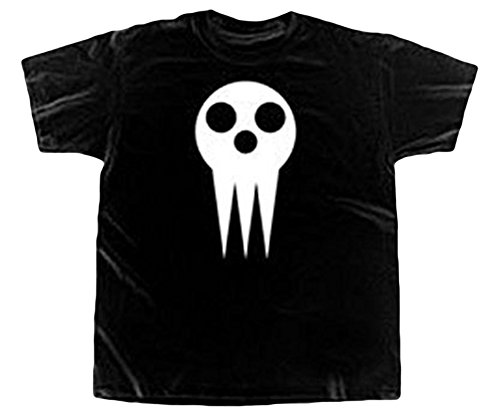 Soul Eater Skull Mask Adult T-Shirt (XX-Large, Black)