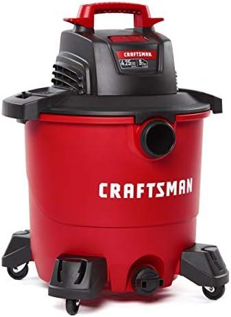 CRAFTSMAN CMXEVBE17590 9 Gallon 4.25 Peak HP Wet/Dry Vac, Portable Shop Vacuum with Attachments