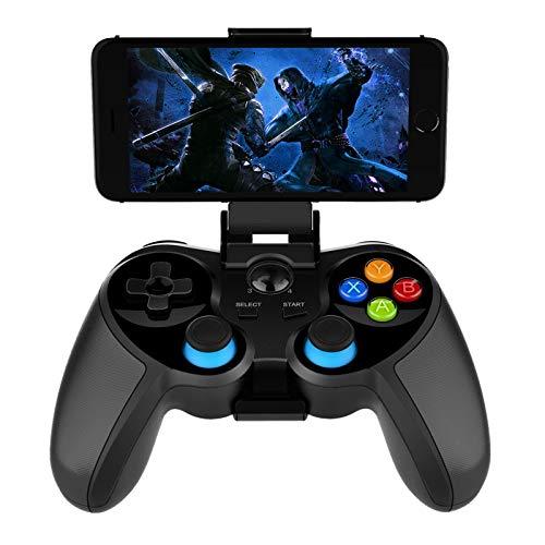 MILECN Compatible con Controladores De Juegos Móviles, Conexión Bluetooth, Pc De Android iOS Controlador De Juegos Móvil Gamepad con Soporte para Teléfono