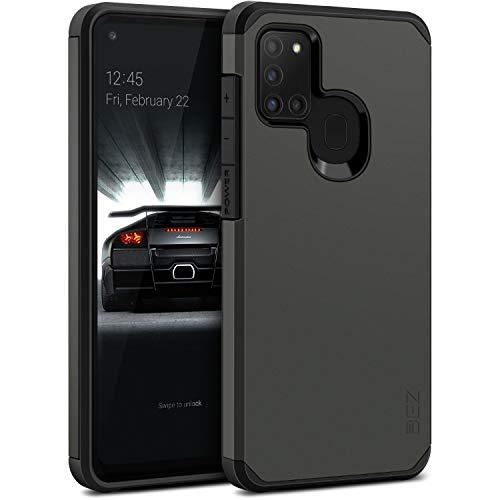 BEZ Funda Samsung A21s, Carcasa Protectora para Samsung Galaxy A21s Antideslizante Híbrida Gota Protección, Cover Anti-Arañazos con Absorción de Choque Resistente, Plata