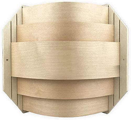 SudoreWell® Sauna Holzblendschirm Lampenschirm Eck für Saunaleuchte + Saunalicht