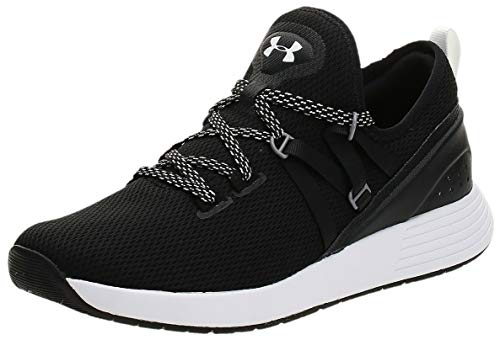 Under Armour Women's Breathe Trainer Sneaker, Black (001)/White, 10.5
