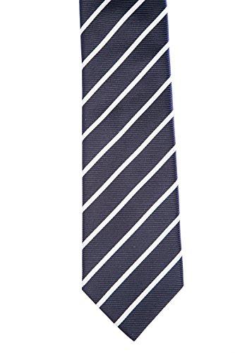 BOSS Stripe Tie in Navy One Size