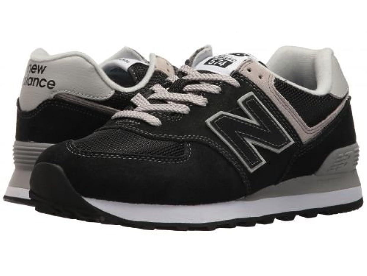 うがいパンツ電子New Balance Classics(ニューバランス クラシック) レディース 女性用 シューズ 靴 スニーカー 運動靴 WL574v2 - Black/White 6.5 B - Medium [並行輸入品]