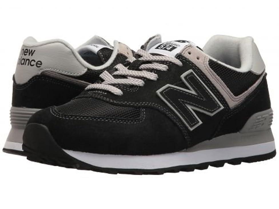 歯痛虚偽シャークNew Balance Classics(ニューバランス クラシック) レディース 女性用 シューズ 靴 スニーカー 運動靴 WL574v2 - Black/White 10 D - Wide [並行輸入品]