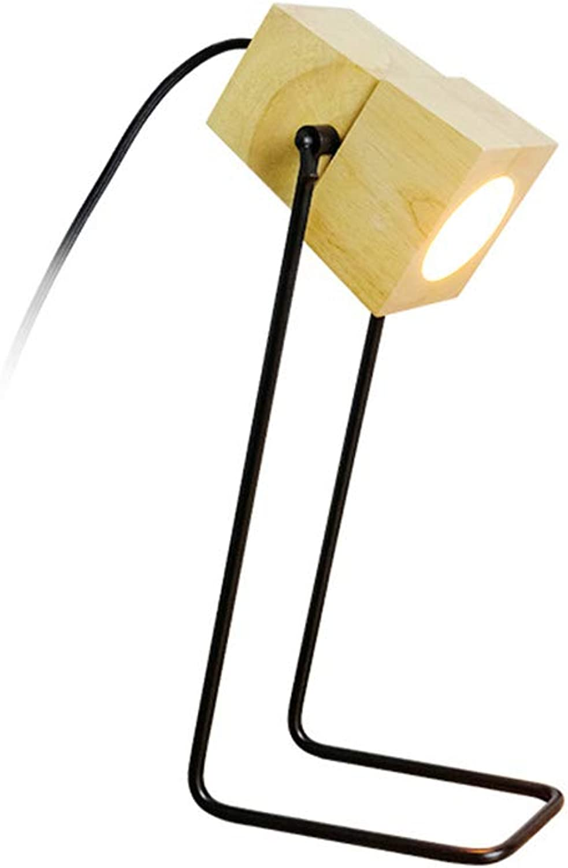 GY-Lmap Schlafzimmer Tischlampe Augenschutz Schreibtischlampe College Schlafsaal Massivholz Persnlichkeit Lernen Lesen Tischlampe Warmes Licht Nachttischlampe