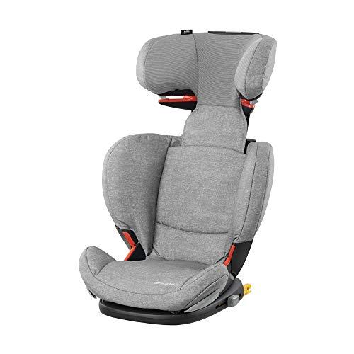 Bébé Confort RODIFIX AirProtect, Silla de auto para niño con ISOFIX, R44/04, reclinable, segura y ligera, desde los 3.5 hasta los 12 años, 15-36 kg, gr. 2/3, color Nomad Grey