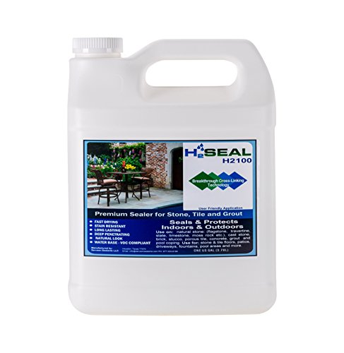 Serveon Sealants H2Seal H2100 Stone Sealer - Professional Grade for Natural Stone, Grout, Brick, Tile and Artificial Stone (1 Gallon, Stone Sealer)