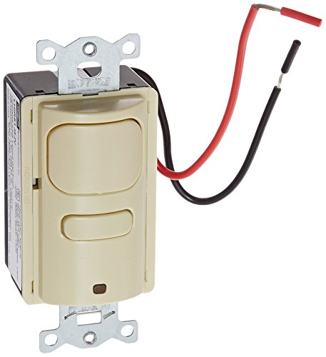 Hubbell Building Automation LHIRS1-G-IV LightHawk Passive Infrared Single Circuit Sensor, Ivory