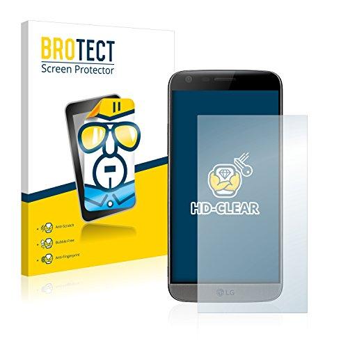 BROTECT Schutzfolie kompatibel mit LG G5 (2 Stück) klare Bildschirmschutz-Folie