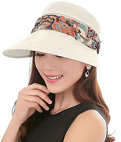 KXF Paciffico Women 2 in 1 Foldable Sun Hat With Neck Flap Breathable Quick...