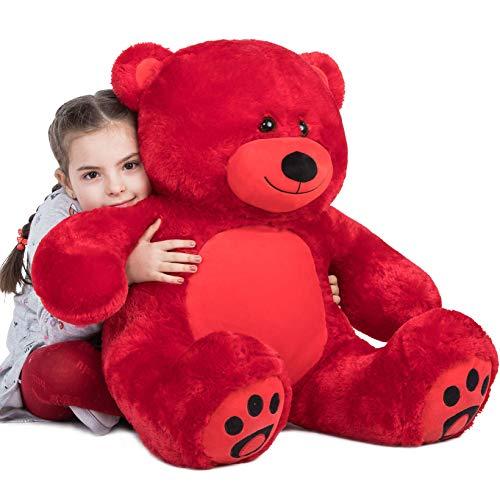 YXCSELL 3 Ft Giant Teddy Bear Belly Soft Plush Animal Toys Valentine