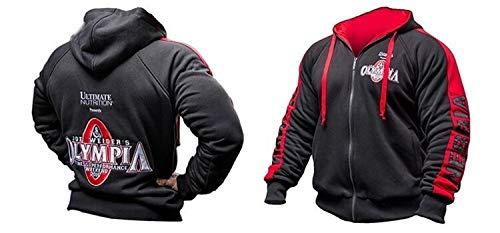 Hoodie Mens Zipper Hoodies Fashion Casual Male Fitness-Studios Fitness Bodybuilding Cotton Sweatshirt Sport Top Coat Kapuzenpullover Herren (Color : Hooded, Size : L)