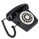 FOLOSAFENAR Botones Grandes Vintage de los años 80 Teléfono Fijo Vintage Señal Estable y Resistente Conveniente, como decoración del hogar