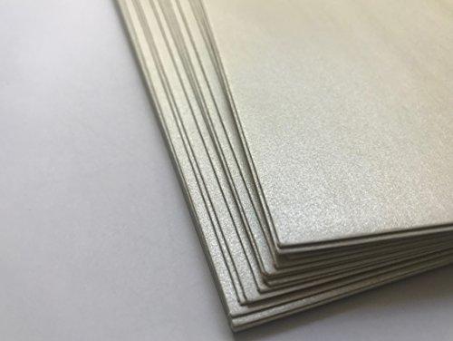 White Pearl de Lot de 25enveloppes carré nacre, Pearls, effet perlé, 17x 17cm, avec bande adhésive, Premium: 100g/m²