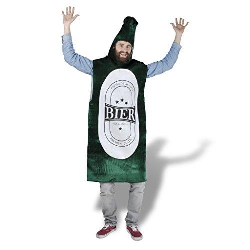 Festnight Bier Kostüm Bierflasche-Kostüme Spaß Costume XL-XXL Erwachsene mit der Größe bis 195cm Verkleidung für Partys Karneval