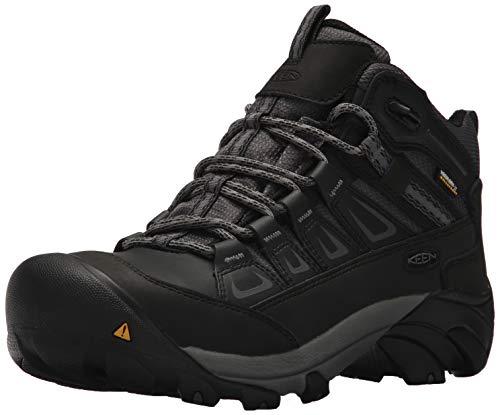 KEEN Utility Men's Boulder Mid Waterproof Industrial Boot, Magnet/Gargoyle, 10 D