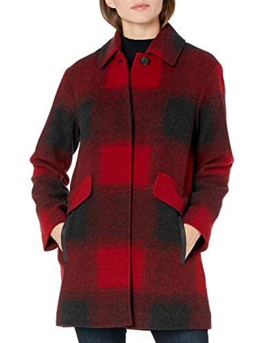 Pendleton Outerwear Women's Mercer Island, Iconic Pendleton Exploded RED Buffalo Ombre, S