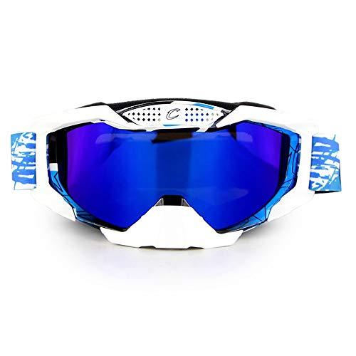 Mmsww Gafas de Moto, Gafas de esquí Motos de Cross-país Gafas de montaña al Aire Libre equitación Gafas esquí Gafas Caballero Equipo,E