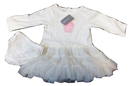 First Impressions Engel weiß Spitze Net Detail Pretty Style Kleid–0–3Monate