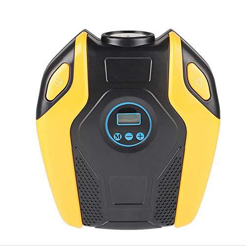 SSZZ Bewegliche Intelligente Led-selbstreifen-hochleistungspumpe, Luftkompressor Benutzt Für Auto-Fahrrad Und Andere Inflatables,Yellow,Digitaldisplay