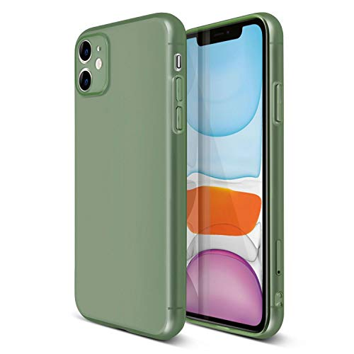 Translucent Matte Case Compatible with iPhone 11 (6.1 inch), Semi-Transparent Smooth Touch Soft TPU Thin Cover Green, by Insten