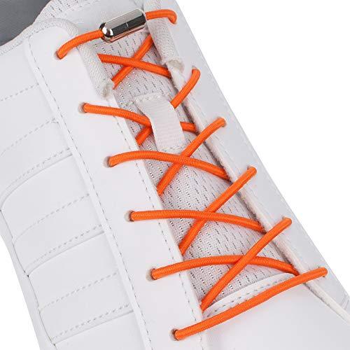 Supo Elastische rubberen schoenveters met metalen sluiting, zonder binden, rubberen veters, veters, strikloze schoenveters voor alle schoenen