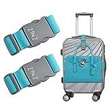 2 pezzi ZINZ da viaggio cinghie bagagli ad alta elasticità imballaggio cintura valigia ci...