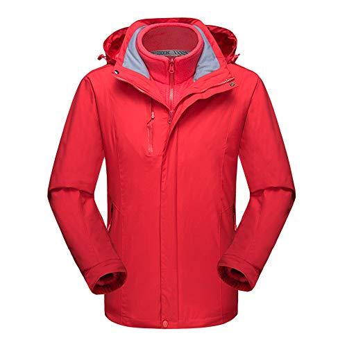 Koupany heren outdoor bergsport kleding skikleding dikke waterdichte warme afneembare herfst- en winterjas jas jas rood
