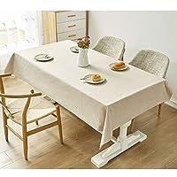 テーブルクロス防水防汚タッセル高温北欧厚く長方形のテーブルクロス (Color : Beige, Size : 90*140CM)