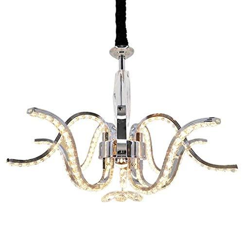 JUE El Cristal llevó la lámpara - Creativo K9 luz de Techo Colgante de Plata de iluminación decoración del Restaurante de Las Luces Colgantes for Bares/cafeterías/Comedor/Sala de Estar lámpara d