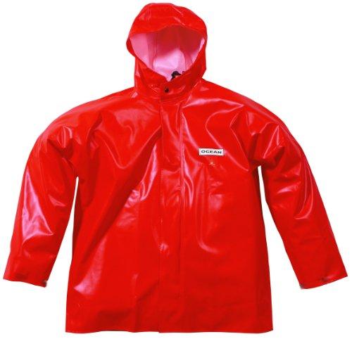 Ocean Classic Jacke - Ölzeugjacke aus PVC auf Baumwollträger. DAS Ölzeug für den Profi (3XL, orange)