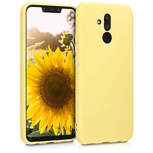 kwmobile Carcasa para Huawei Mate 20 Lite - Funda para móvil en TPU Silicona - Protector Trasero en Amarillo Mate