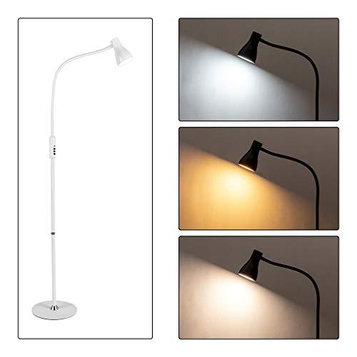 QTDH Nordic Simple LED ARC Goosenhoek staande lamp leeslamp voor woonkamer afstandsbediening Tonering USB staande lamp