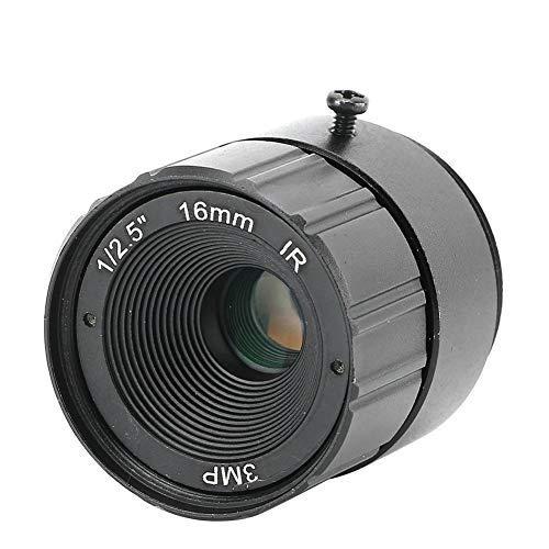 Tangxi Lente CCTV para cámara, 16 mm 3MP F1.6 1/2.5 Montaje en cámara de Alta definición Lente Fija CS CCTV