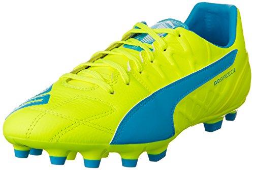 Puma Herren evoSPEED 3.4 Lth AG Fußballschuhe, Gelb (safety yellow-atomic blue-white 04), 42 EU