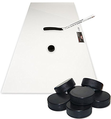 Bundle Includes 2 Items - Sniper's Edge Hockey Ice Hockey Shooting Pad, 30 x 60-Inch and A&R Sports Ice Hockey Puck (Pack of 12)
